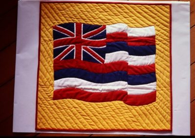 K'ahae Hawaii Waving Hawaiian Flag