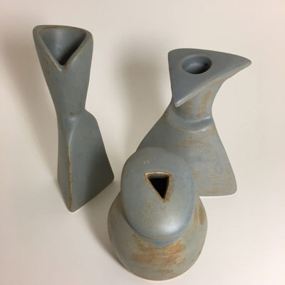 earth fog pottery trio