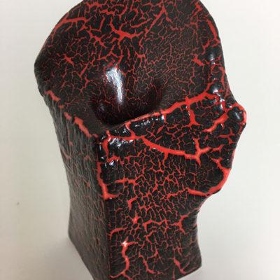 lava crackle pottery