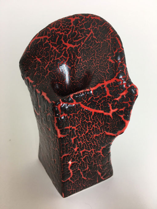 lava crackle pottery
